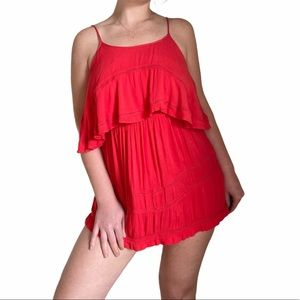 Lovers + Friends Paradise Bay Dress Coral Red XS